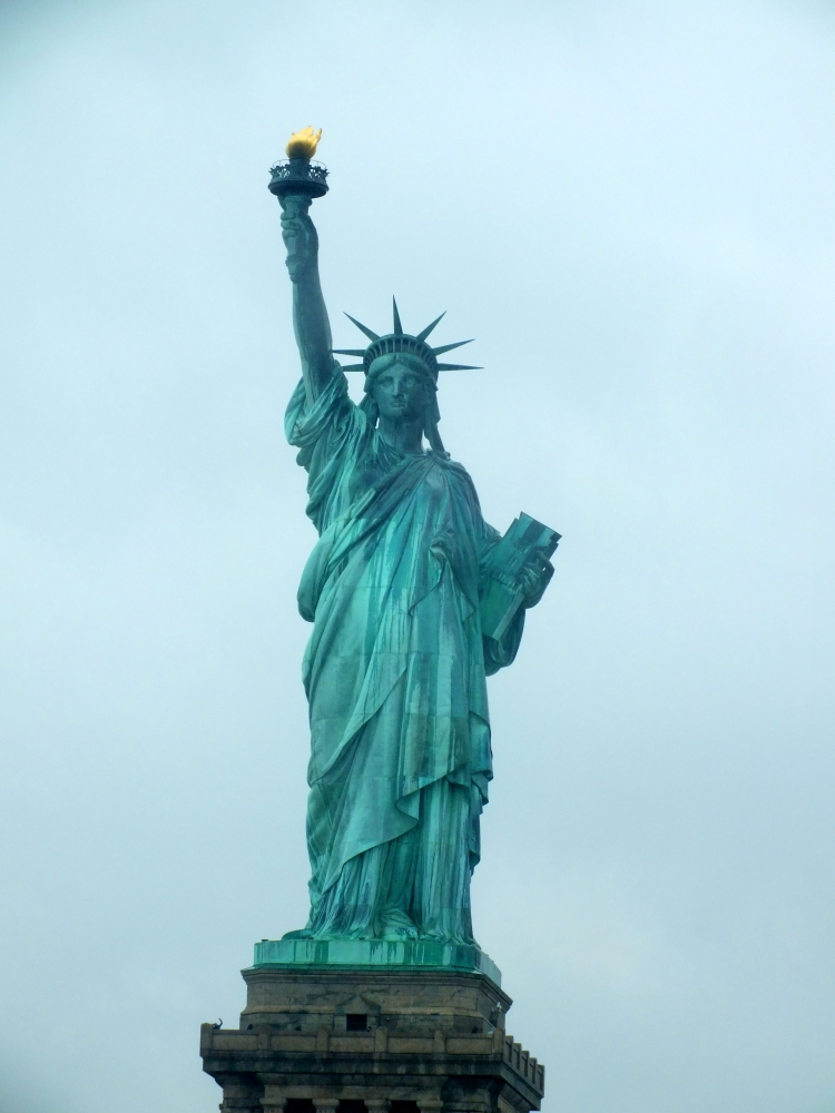 THE STATUE OF LIBERTY ~ Sorry for the poor quality of my photo here, I went to New York in March and it was absolutely chucking it down with rain.